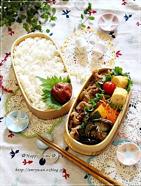 豚の生姜焼き弁当ときのこたっぷり炊き込みご飯♪_f0348032_18373672.jpg