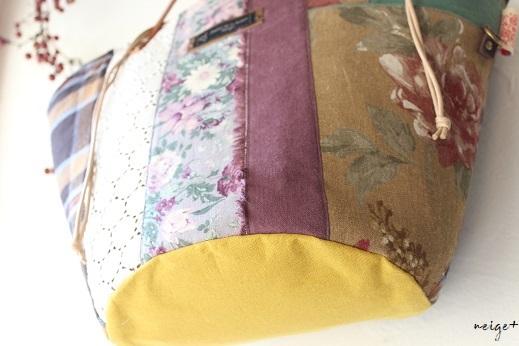 マザーズバッグにも♪はぎれで秋色シックな巾着マルシェ&マジックゼリー_f0023333_21575203.jpg