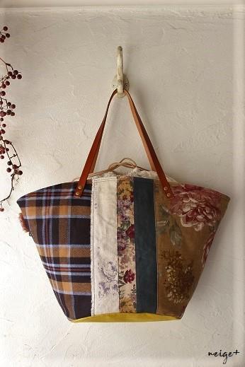 マザーズバッグにも♪はぎれで秋色シックな巾着マルシェ&マジックゼリー_f0023333_22004796.jpg