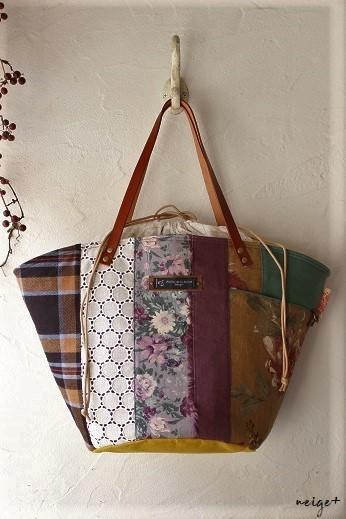 マザーズバッグにも♪はぎれで秋色シックな巾着マルシェ&マジックゼリー_f0023333_22005059.jpg