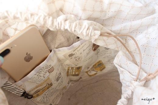マザーズバッグにも♪はぎれで秋色シックな巾着マルシェ&マジックゼリー_f0023333_22182343.jpg