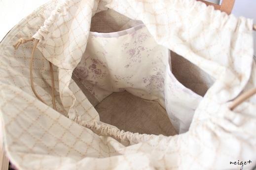 マザーズバッグにも♪はぎれで秋色シックな巾着マルシェ&マジックゼリー_f0023333_22192832.jpg