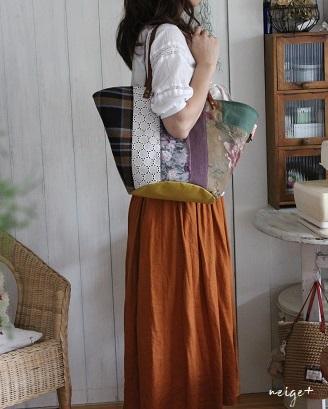 マザーズバッグにも♪はぎれで秋色シックな巾着マルシェ&マジックゼリー_f0023333_22323085.jpg