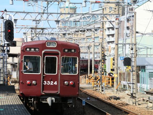 阪急3324F 十三駅にて! 撮り鉄_d0202264_19195182.jpg