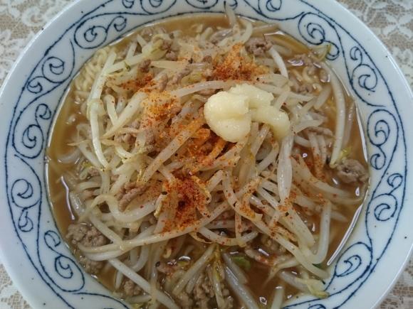 9/10 サンヨー食品サッポロ一番みそラーメン¥64 + 中延園食品もやし¥9_b0042308_16091312.jpg