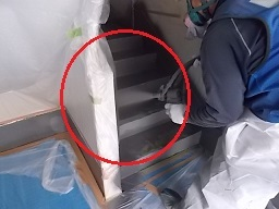 某公団階段室防水工事(藤沢市)_c0183605_08572242.jpg