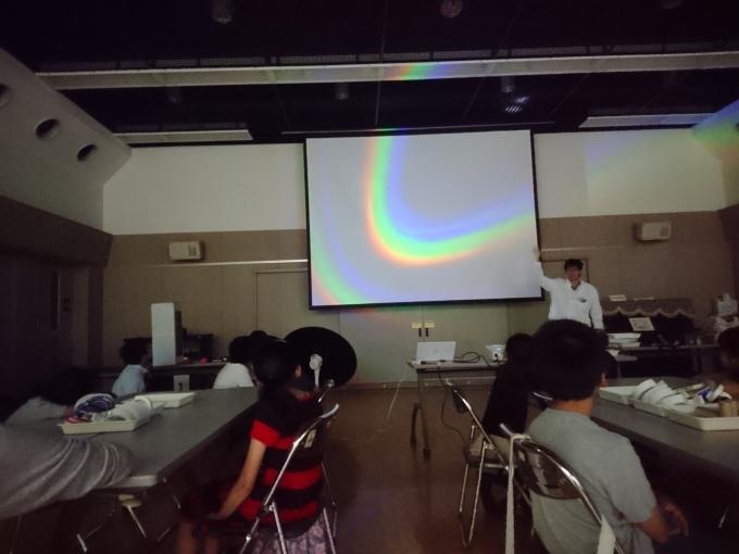 2017/09/02 光のショー・偏光万華鏡工作教室@鷹番住区センター_f0240709_21183998.jpg