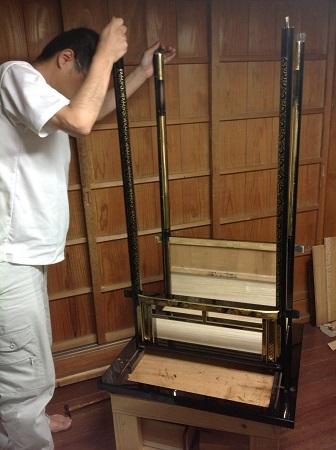仏壇のすす洗い・修繕 その5 2017.09.12_c0213599_19270179.jpg