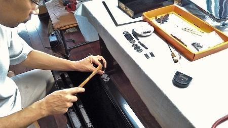 仏壇のすす洗い・修繕 その5 2017.09.12_c0213599_19392467.jpg