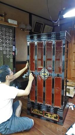 仏壇のすす洗い・修繕 その5 2017.09.12_c0213599_19395619.jpg
