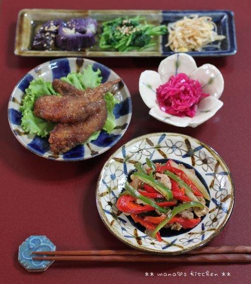 鶏そぼろごはん&えびだんご ✿ 豚ピー(๑¯﹃¯๑)♪_c0139375_1125234.jpg
