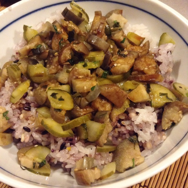 糠漬け大葉ご飯 日本人はやっぱり米食わなあきません_a0334793_02073483.jpg