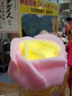 東北展 進藤冷菓のババヘラ・アイス バラ盛り_f0112873_234121.jpg