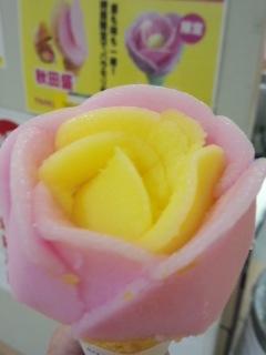 東北展 進藤冷菓のババヘラ・アイス バラ盛り_f0112873_2354329.jpg