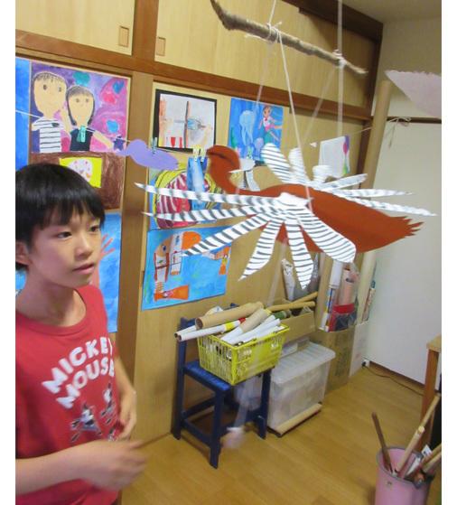 はばたくオーナメント・小学生クラス(上高野)_f0211514_23103138.jpg