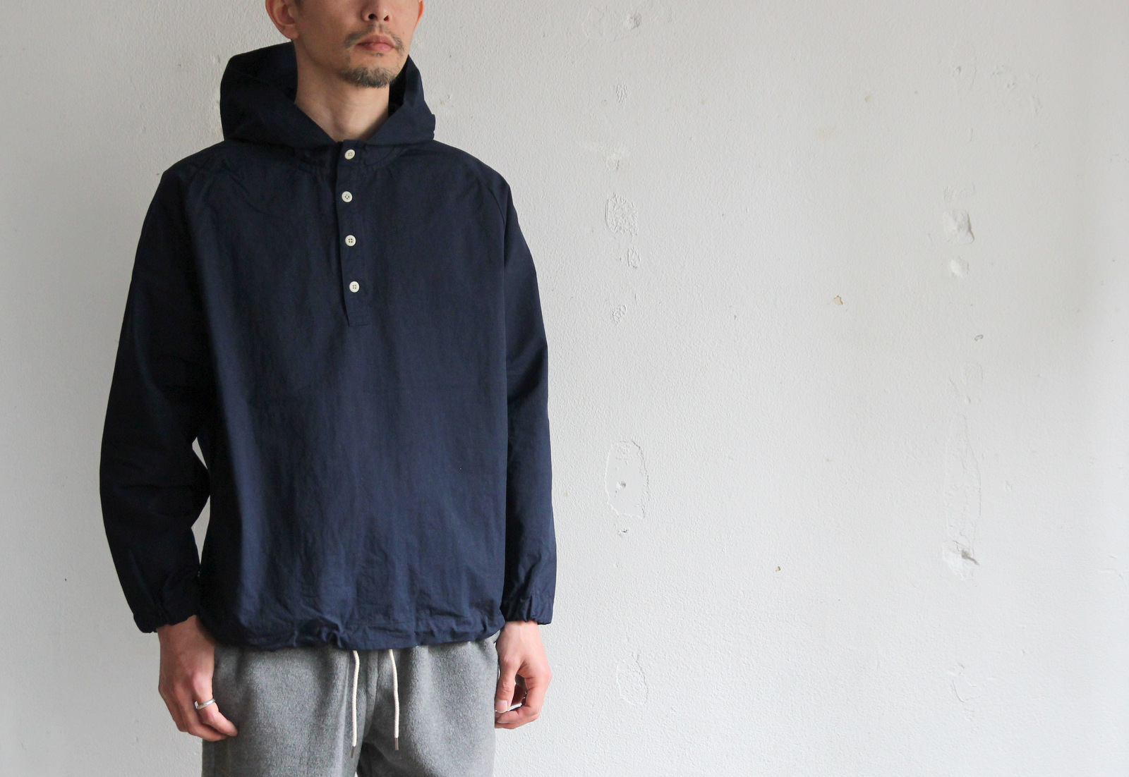 Cotton Nylon Pull Over Parka_c0379477_19414258.jpg