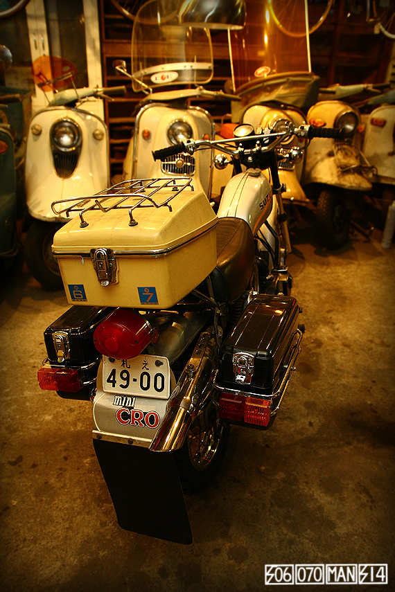 1970s Vintage SUZUKI miniCRO CM50 ミニクロ 当時ナンバー VMX 80年代カスタム bagger_e0243096_21454363.jpg