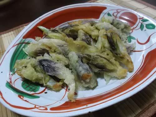じいちゃんの料理 みょうがの天ぷら&たらこスパゲティ_f0019498_10142385.jpg