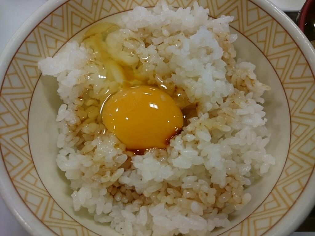 9/18  たまかけ朝食¥250@すき家_b0042308_06573880.jpg