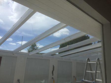 サンルームの屋根のリフォーム_b0253226_05135491.jpg