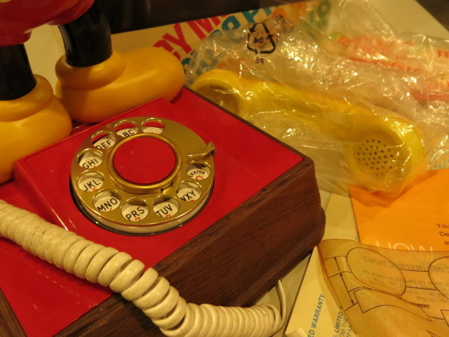 "\""1960\'s DEAD STOCK MICKEY TELEPHONE\""ってこんなこと。_c0140560_15021217.jpg"
