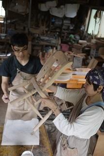 ②続・工房へ「コジマアツシ」椅子展 at  ハクトヤ:篠山_f0226293_09113803.jpg