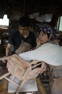 ②続・工房へ「コジマアツシ」椅子展 at  ハクトヤ:篠山_f0226293_09113843.jpg