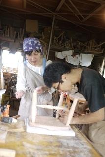 ②続・工房へ「コジマアツシ」椅子展 at  ハクトヤ:篠山_f0226293_09114705.jpg