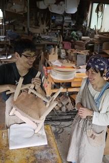②続・工房へ「コジマアツシ」椅子展 at  ハクトヤ:篠山_f0226293_09114746.jpg