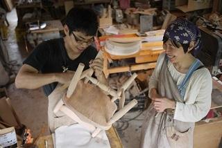 ②続・工房へ「コジマアツシ」椅子展 at  ハクトヤ:篠山_f0226293_09114754.jpg