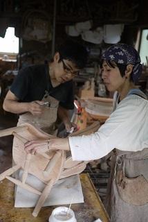 ②続・工房へ「コジマアツシ」椅子展 at  ハクトヤ:篠山_f0226293_09114756.jpg