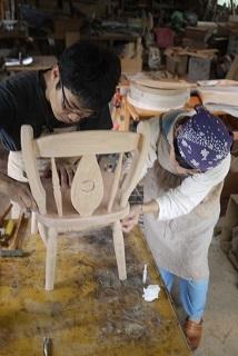 ②続・工房へ「コジマアツシ」椅子展 at  ハクトヤ:篠山_f0226293_09114884.jpg
