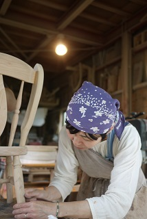 ②続・工房へ「コジマアツシ」椅子展 at  ハクトヤ:篠山_f0226293_09115940.jpg