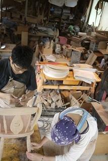 ②続・工房へ「コジマアツシ」椅子展 at  ハクトヤ:篠山_f0226293_09115971.jpg