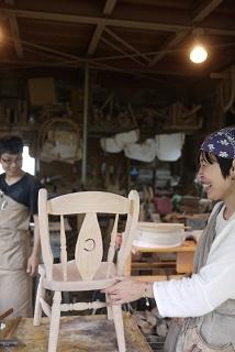 ②続・工房へ「コジマアツシ」椅子展 at  ハクトヤ:篠山_f0226293_09120004.jpg