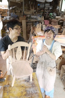②続・工房へ「コジマアツシ」椅子展 at  ハクトヤ:篠山_f0226293_09120849.jpg