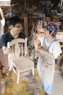 ②続・工房へ「コジマアツシ」椅子展 at  ハクトヤ:篠山_f0226293_09120857.jpg