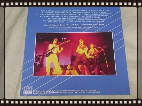 DURAN DURAN / TOKYO 1982 1ST NIGHT_b0042308_01204951.jpg