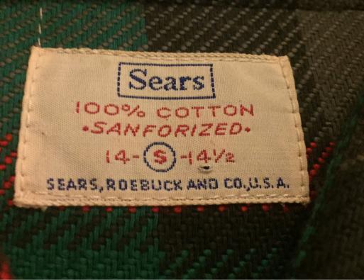 アメリカ仕入れ情報#56 デッドストック発見#26 60s  マチ付きSears ヘビーネルシャツ_c0144020_01262967.jpg