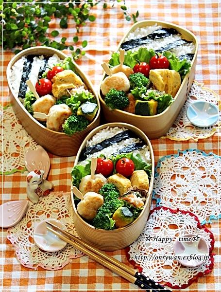 つくね弁当と今日のわんこ♪_f0348032_18221482.jpg