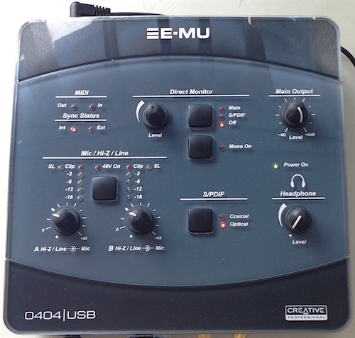 E-MU 0404USB は計測用途で使えるん? - 通電してみんべ