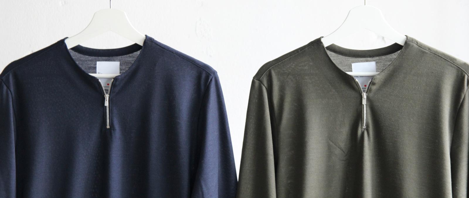 Merino Wool Knit Short Zip Pull Over_c0379477_18492011.jpg