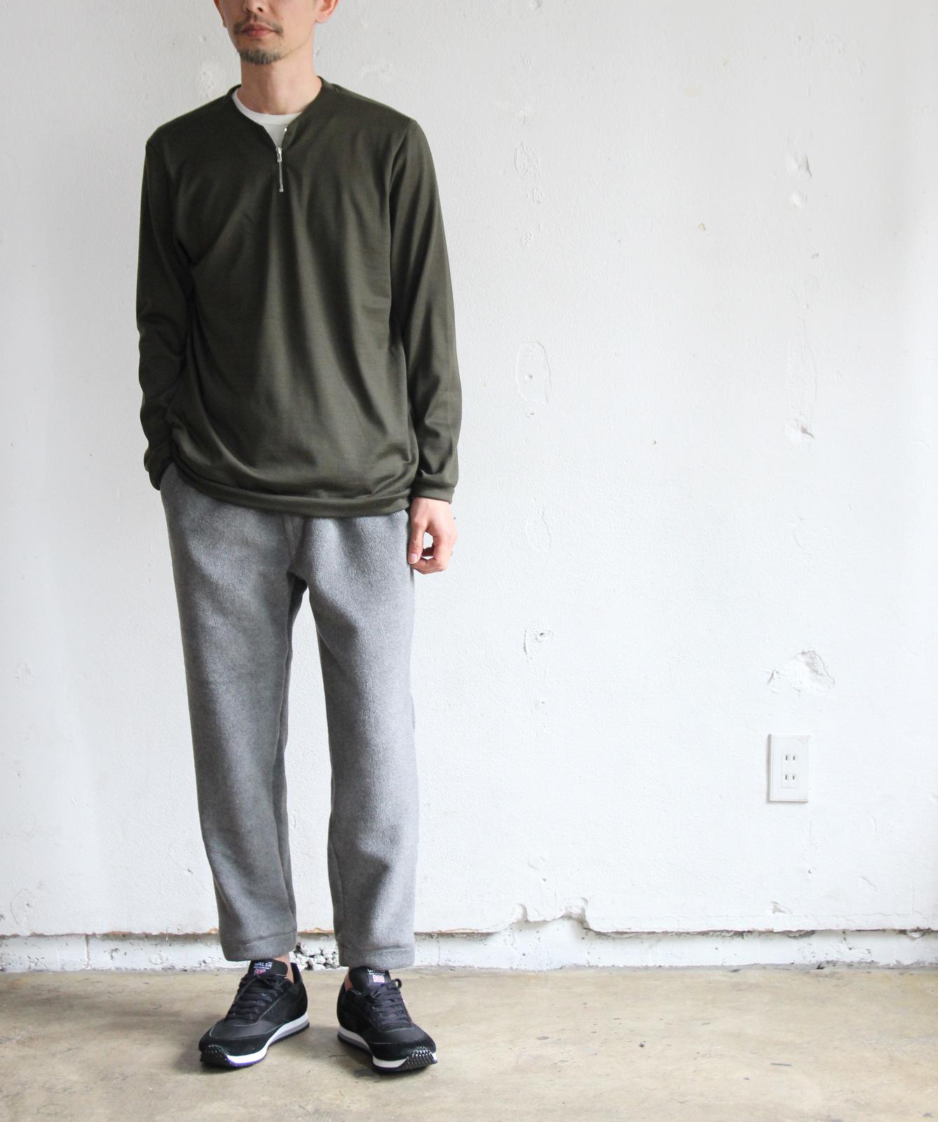 Merino Wool Knit Short Zip Pull Over_c0379477_18504850.jpg