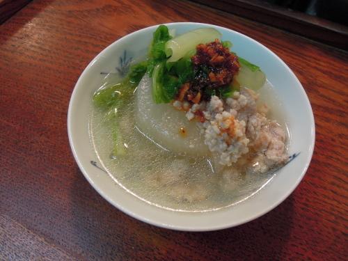 大根 鶏そぼろ煮 三東菜_e0116211_11491482.jpg