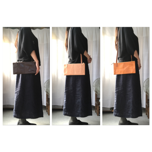 「made  in  west展」「yes」SQUARE SHOULDER BAG 2PIECE_f0212293_09071610.jpg
