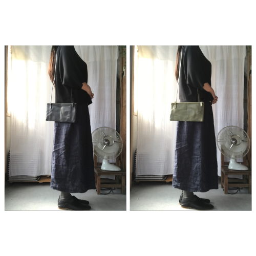 「made  in  west展」「yes」SQUARE SHOULDER BAG 2PIECE_f0212293_09072139.jpg