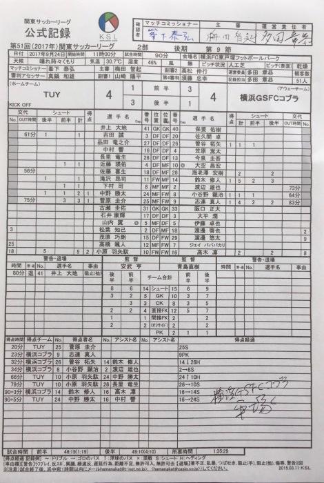 関東リーグ後期第9節vsTUY_a0109270_19073643.jpg