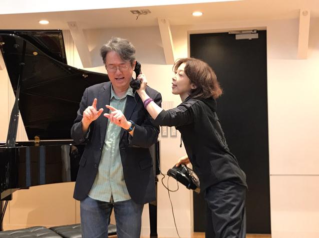 オペラ「電話」 in Sala MASAKA リハーサル_f0144003_10582116.jpg