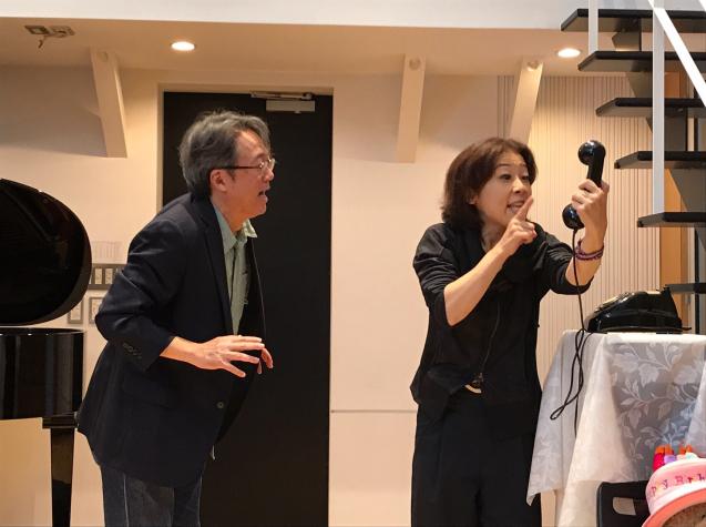 オペラ「電話」 in Sala MASAKA リハーサル_f0144003_10582415.jpg