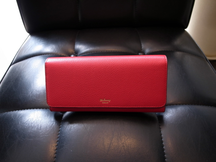 DETAIL MULBERRY ENGLAND CONTINENTAL WALLET SCARLET_f0111683_12425356.jpg